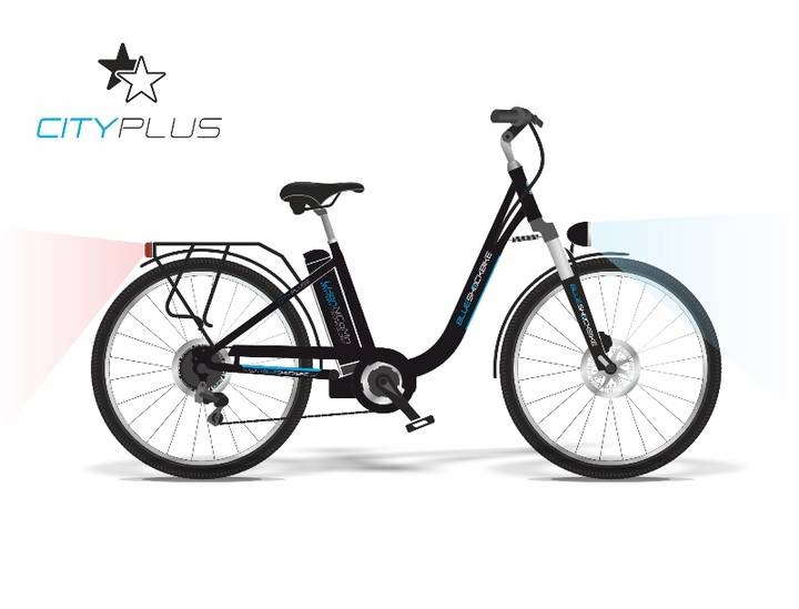 Blue Shock Bike - City Plus